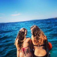 two girls on the sea