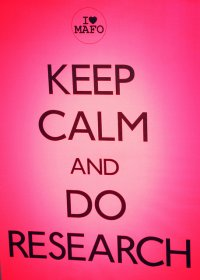 Keep Calm And Do Research